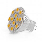 Купить LED GU4 2.4W 12 pcs WW MR11 12V SMD5050 лампа светодиодная