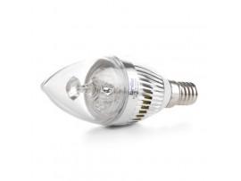 Купить LED E14 3W 3 pcs WW C37 High power лампа светодиодная